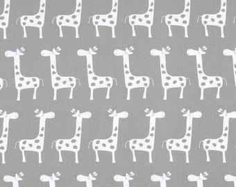 Premier Prints Stretch Storm Gray Fabric - Grey and White Giraffe - Nursery fabric - Gisella Storm Fabric - by 1/2 yard