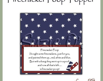 Firecracker  Poop Topper - Digital Printable - Immediate Download