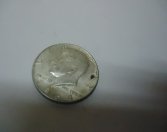 Vintage 1964 Silver Kennedy Half Dollar Coin, collectable 90%, Great for jewelry or crafts