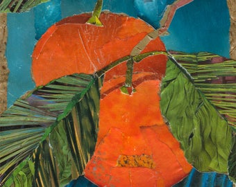 Tangerine Dream art tile. Coaster. Contemporary decor.