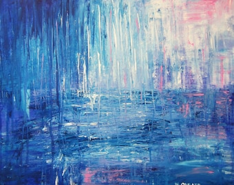 LET IT RAIN abstract painting