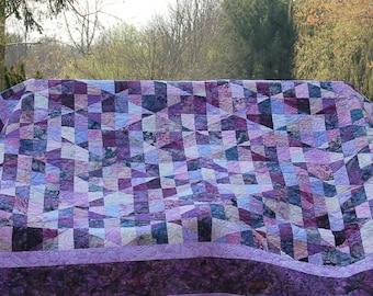 Purple Batik Diamonds