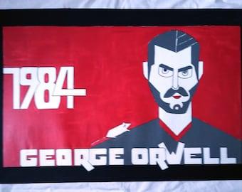 """George Orwell """"1984""""  floor cloth"""