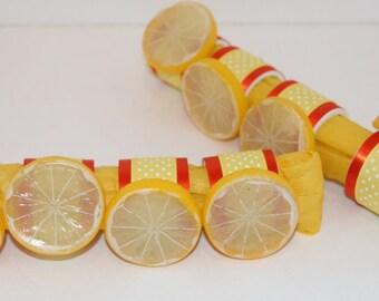 Lemon  Napkin Rings Set of 8