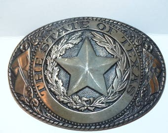The State of Texas Belt Buckle, Lawman Belt Buckle, Tony Lama Belt Buckle, Solid Brass State Series, Lone Star State Buckle
