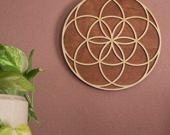 Seed of LIfe Decoration Seed of LIfe Sign Seed of Life Art Sacred Geometry Mindfulness Gift Meditation Gift Laser Cut Wall Art Seed of LIfe