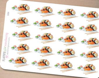 Sushi Planner Stickers Perfect for Erin Condren, Kikki K, Filofax and all other Planners