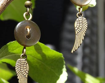 Archangel - Earrings buttons and charms