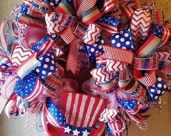 July 4th and summer wreath