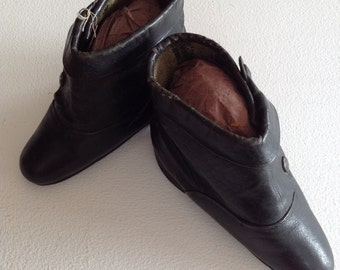 Vintage Chinese 'Bound Feet' leather boots