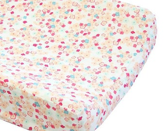 Changing Pad Cover | Love Notes Pastel