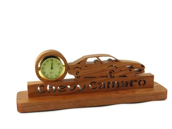 3rd Generation Camaro Desk Or Shelf Clock Handmade From Cherry Wood By KevsKrafts,