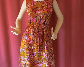 Paisley 60s sheath A-Line dress by Liberty Circle