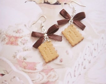 earrings biscuits polymer clay