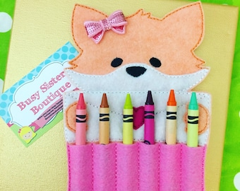 Crayon holder - foxy girl