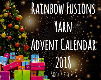 Advent Yarn Calendar 2018 - PRE ORDER - Superwash Merino Nylon Sock 4 Ply 20g x24 plus 50g - Christmas
