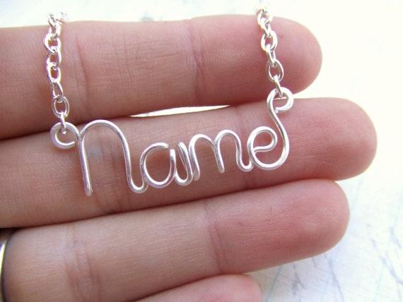 Namenskette Draht Namen Geschenk personalisierte Namen