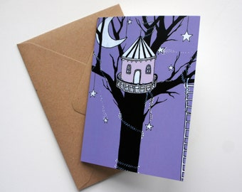 Magical Treehouse Greeting Card
