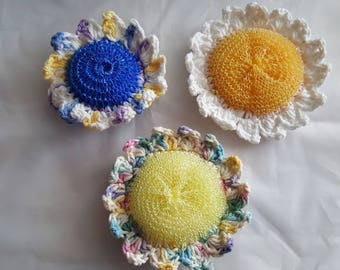 Crochet Daisy Scrubbies