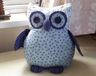 Blue Ollie Owl Doorstop