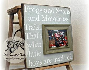 Motorcross, Motorcross Baby, Motorcross Birthday, Motorcross Decor, Baby Gift, Baby Boy, Baby Girl, Baby Frame, 16x16 The Sugared Plums