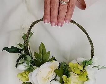 Green wedding hoop wreath modern bridal bouquet destination Wedding Flowers Spring accessories Home Decor