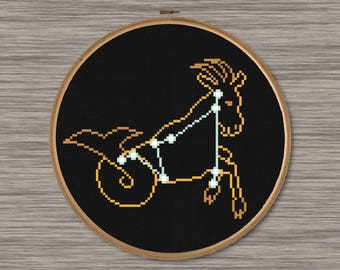 Capricornus Constellation  - PDF Cross Stitch Pattern