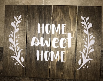Wooden Home Sweet Home Sign, Wall Decor
