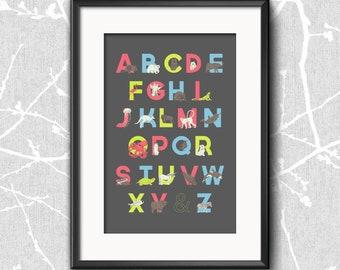 Animal Alphabet Poster - Large
