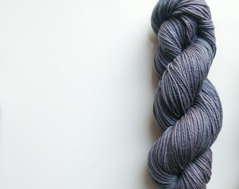 DK Hand dyed yarn Blue Faced Leicester DK weight 100g in Wuthering  British Farmed UK
