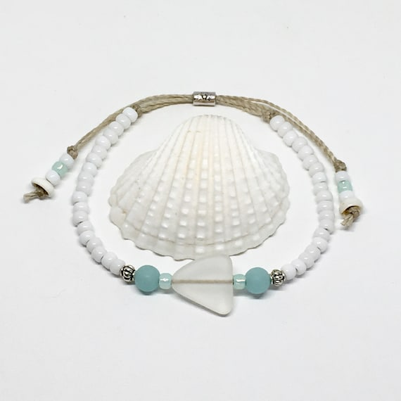 sea glass jewelry, beachcomber beach bracelet, gift for her