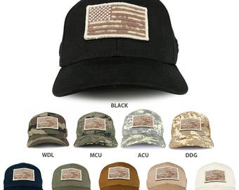 Armycrew USA Desert Digital Flag Tactical Patch Structured Operator Baseball Cap(T75-DDG)