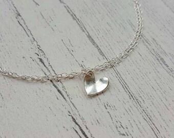 Heart Bracelet - Silver Heart Bracelet - Silver Bracelet - Sterling Silver - Bridal Bracelet - Wedding Jewellery - Bridesmaid Bracelet - UK