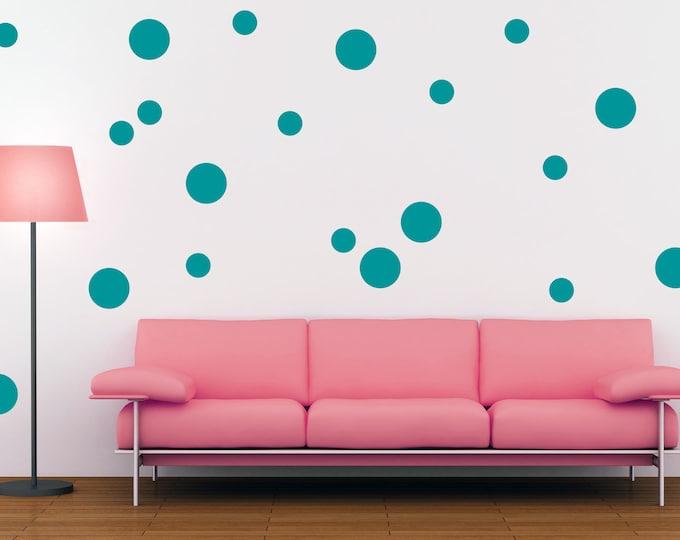 Polka Dot Wall Decal - Polka Dot Wall Decor - Vinyl Wall Decal - Polka Dots - Polka Dot Decals - Home Decor - Polka Dot Wall Art