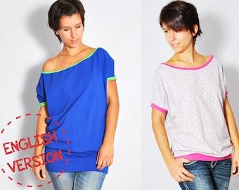 eBOOK #51 COLD.shoulder shirt XS-XXXL - english language