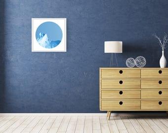 ICEBOAT - Daylight - Art Fine Print - Giclee - Geometric Icebarg - Limited edition FREE Uk SHIPPING