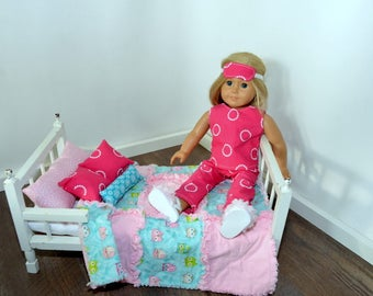 "18"" Doll bed set (9pc)"
