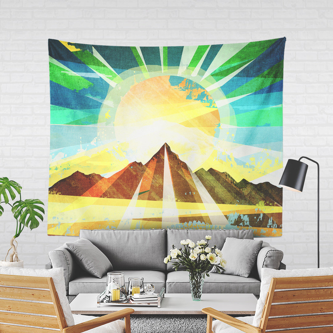 Colorful Wall Tapestry With Positive Energy Artwork, Wanderlust Art ...