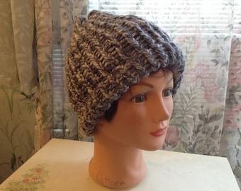Warm, Variegated, Gray Winter Hat