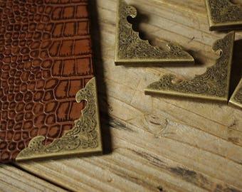 4Pcs Bronze Metal Bookbinding Book Protect Corners Book Protector Photo Frame Corner