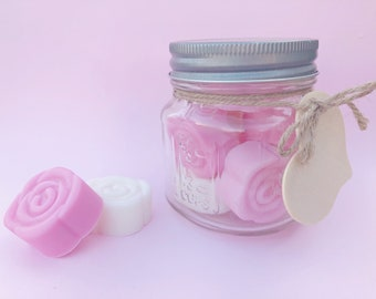 Mother's Day Guest Soap Set, Rose Soaps, Mini Soaps, Guest Soaps, Travel Soaps, Soaps in a Jar