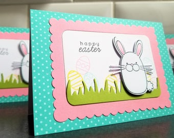 Happy Easter Card, Easter Bunny Card, Easter Eggs