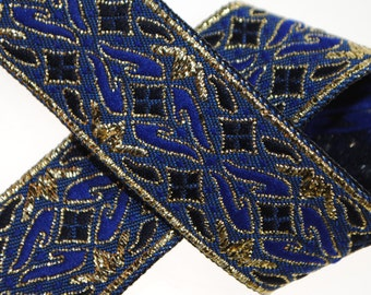 Geometric Jacquard Trim 7/8 inches wide - Two, Five, or Ten Yards