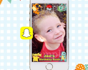 Snapchat GeoFilters, Birthday Snapchat Filters, Custom Snapchat Filter, Pokemon Snapchat GeoFilter, Pokemon Birthday Party, Pokemon Filter