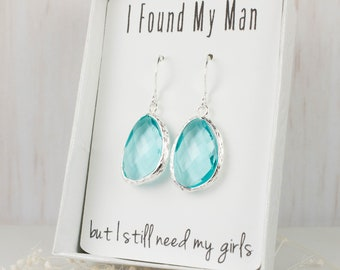 Aquamarine Silver Earrings, Large March Birthstone Earrings, Blue Silver Earrings, Bridesmaid Earrings, Blue Wedding Jewelry