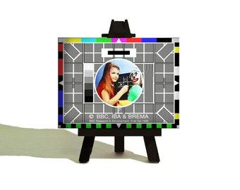 TV Test Card - Classic TV Miniature Canvas and Easel Set.