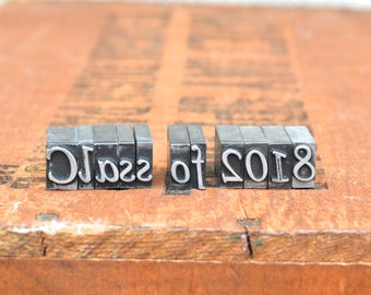 Class of 2018 - Vintage letterpress metal type collection - graduation, gift for graphic designer, gift for art student TS1035