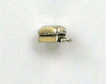 Sterling Silver 3-D Loaf of Bread Charm