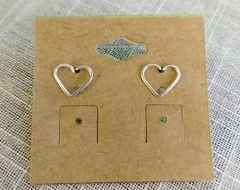 Delicate Wire Heart Studs!