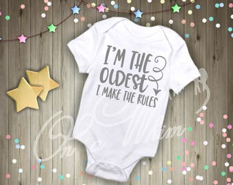 Custom Baby Onesie / Oldest Child /Middle Child / Youngest Child
